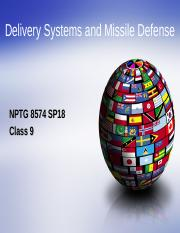 NPTG 8574 SP18 Slides Class 9 Delivery Systems.ppt