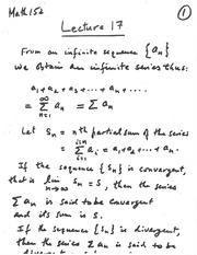 lecture 17 (Series Integral Test)