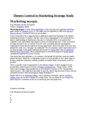 Themes Central to Marketing Strategy Study