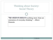 1. Intro, Tools for Theory, Origins of Theory
