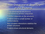 Lecture 4 Proteins