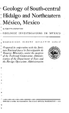 Segestrom (1962) -- Geology of S-Central Hidalgo