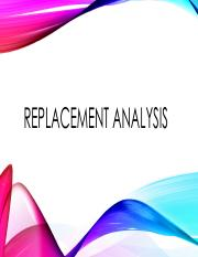 Replacement analysis.pdf