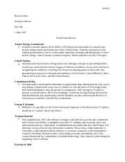 Moore His 106 Final Exam Study Guide