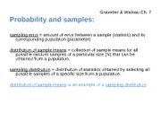 Ch 7 Probability and Samples