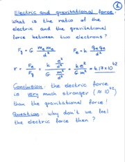 Electric and Gravitational Notes