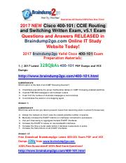 (2017-May)Braindump2go New 400-101 PDF Dumps and 400-101  VCE Dumps 328Q&As Free Share(270-280).pdf