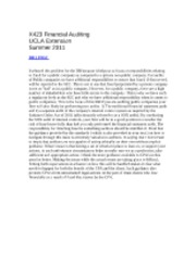 X423 Financial Auditing Discussion 2