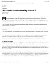 Reading5 Cost-Conscious Marketing Research - HBR.pdf
