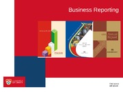 INFS2001 Lecture 10 - Business Reporting