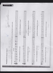key signatures for a scale homework