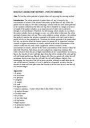 biology gcse osmosis coursework