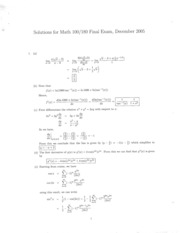 Math 100 Dec 05 Answers