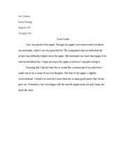 Sequence II Cover Letter