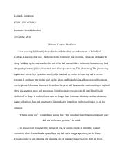 Comp 2 Midterm Creative Nonfiction