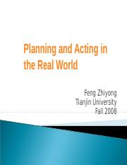 12-Planning and Acting in the Real World.ppt