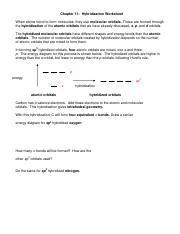 Worksheet hybridization KEY.pdf - Worksheet 16 ~ Hybridization When ...