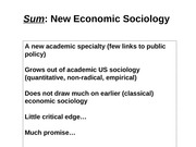 SOC 2190 10 New Economic Sociology