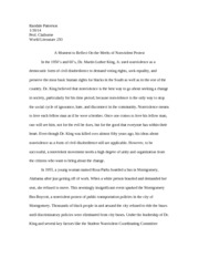 World Lit Essay on Nonviolent Protest