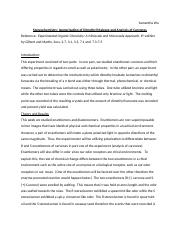 organic chemistry lab report isomerization At every stage of an experiment, the accurate and unbiased recording of results is essential your lab report should be neat and legible and only written in.