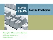 ch12-13 Systems Development