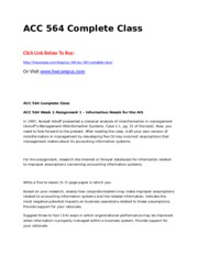 ACC 564 Complete Class.doc