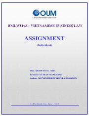 Assignment of Law -Nhung Nguyen Thi Kim
