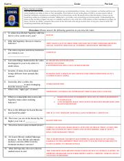 7_Stress Portrait of a Killer Movie Worksheet - KEY.doc