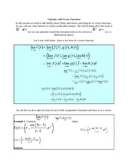 Calculus with Vector Functions