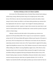 The Flaws of Relying on State-Level Climate Legislation essay paper