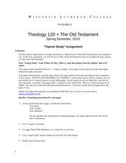THE120 Topical Paper Instructions Spr 2013