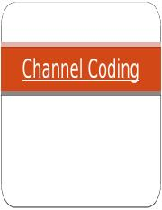 4. Channel coding