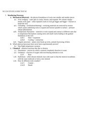 STUDY GUIDE Test 2
