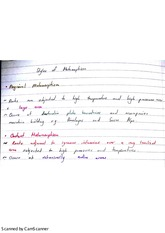 Styles of Metamorphism Exam Revision Notes