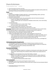 Ancient Civilizations- Anthro 150 Complete class notes