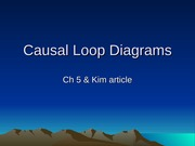 Causal Loop Diagrams - Ch 5 & Kim article