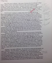 College Essay With Notes