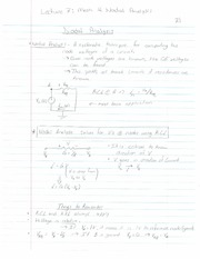 ECE 201 - Handnotes - Lecture 7 - Mesh and Nodal Analysis - F11