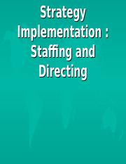 (9)Strategy Implementation, Staffing and Directing.ppt