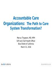 20. Accountable Care Organizations 03.31.2016.pptx