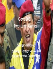Class 8- Two Level Games