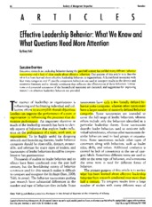 6 - Yukl, G. (2012). Effective leadership behavior