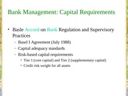 02B. Bank Management - Capital Requirements