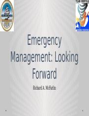 Emergency Management Looking Forward