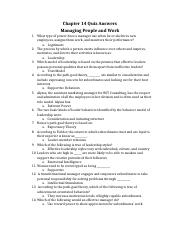 Managing People and Work Ch. 14 quiz.docx