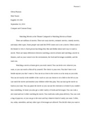 High School Personal Statement Sample Essays Compare And Contrast Essay For Example Only Not To Be Duplicated   Pearson  Olivia Pearson Matt Turner English  Compare And Contrast  Essay Essay Writing Examples English also English Essay Topics Compare And Contrast Essay For Example Only Not To Be Duplicated  Essay On Photosynthesis