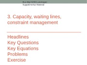 Bus Mgt 3230 Supplemental Slides Capacity, Waiting, and Constraints
