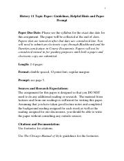 Hist 11 Douglass Paper Guidelines and Topic - Fresno State (1)