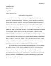 Research Argument Essay Animal Testing- The Silence Voice .docx