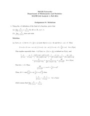 Solutions to Assignment 8 for MATH 242